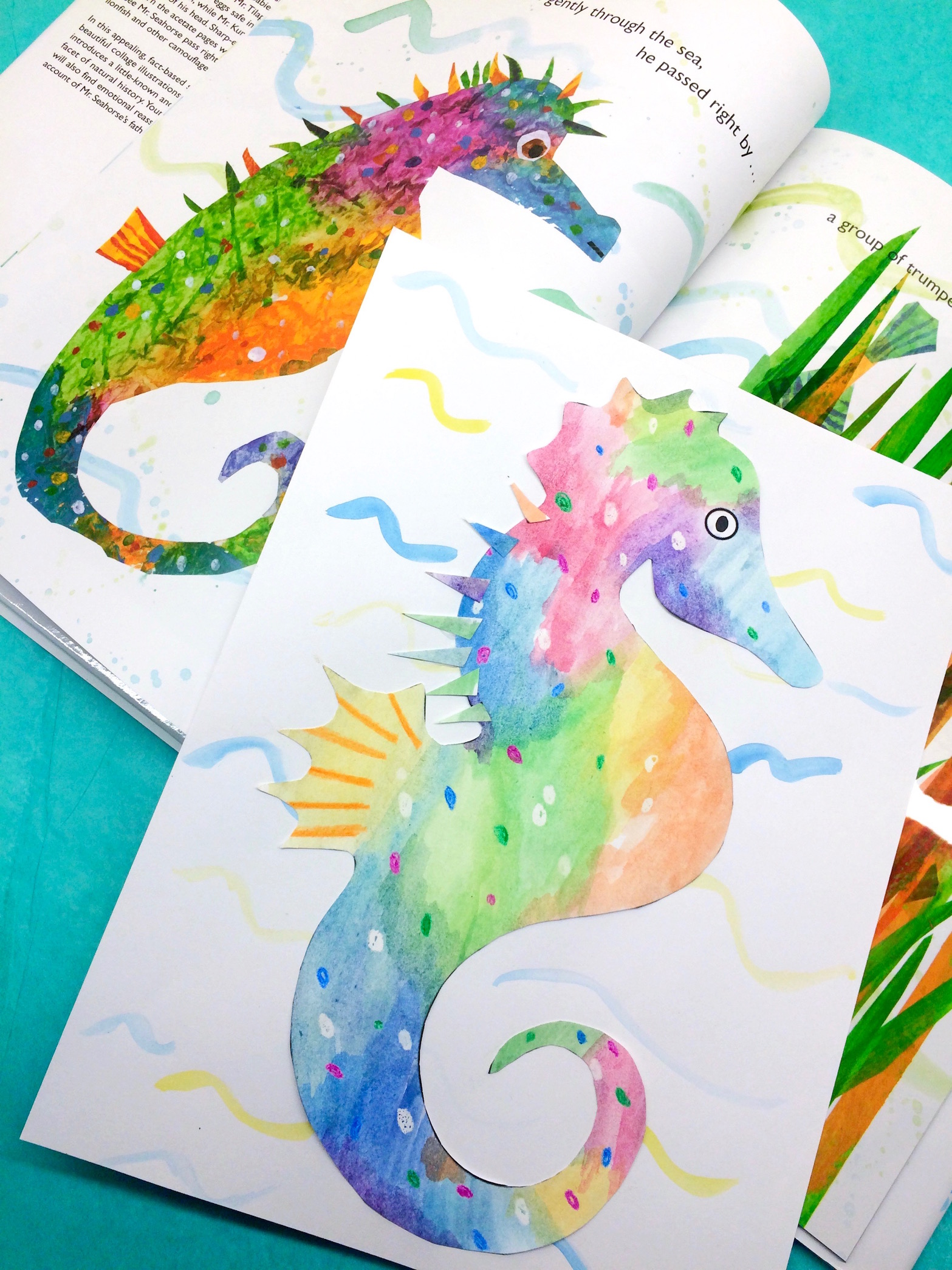 Library of mister seahorse eric carle black and white ...