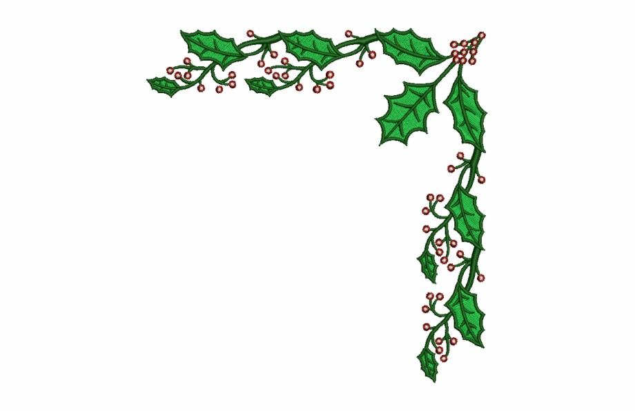 Mistletoe border clipart png black and white Christmas Mistletoe Border - Clip Art Christmas Borders, Transparent ... png black and white
