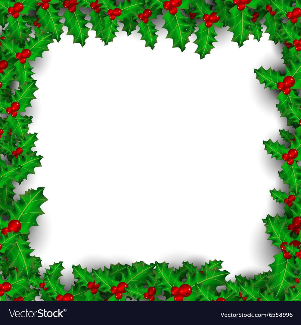 Mistletoe border clipart free download Christmas Mistletoe Border Royalty Free Vector Image free download