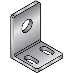 Misumi usa clipart png library download L-Shaped Angles - Mounting Plates / Brackets - Dimension ... png library download