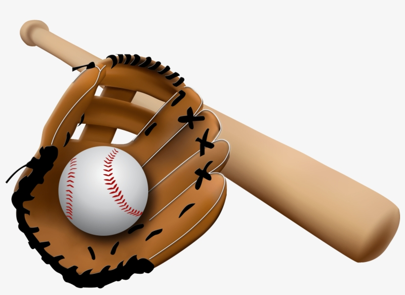 Mit clipart png black and white library Baseball Glove And Bat - Free Clip Art Baseball Mit - Free ... png black and white library