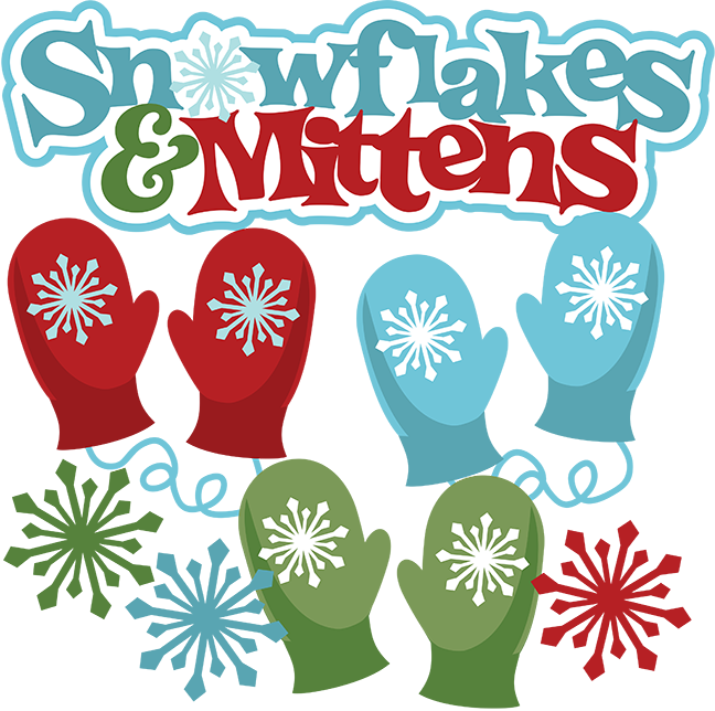 Mitten snowflake clipart picture black and white download Snowflakes & Mittens SVG Scrapbook Collection free svg files ... picture black and white download
