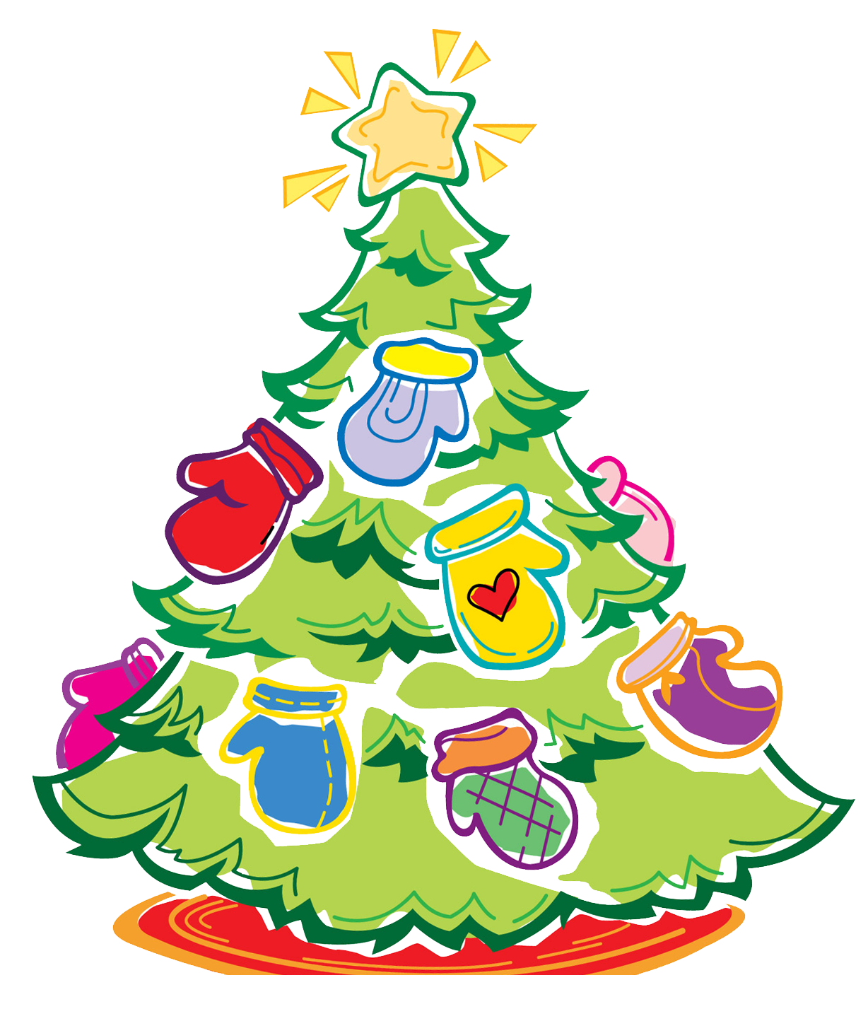 Mitten tree clipart picture library download mitten-tree - Up North Voice picture library download
