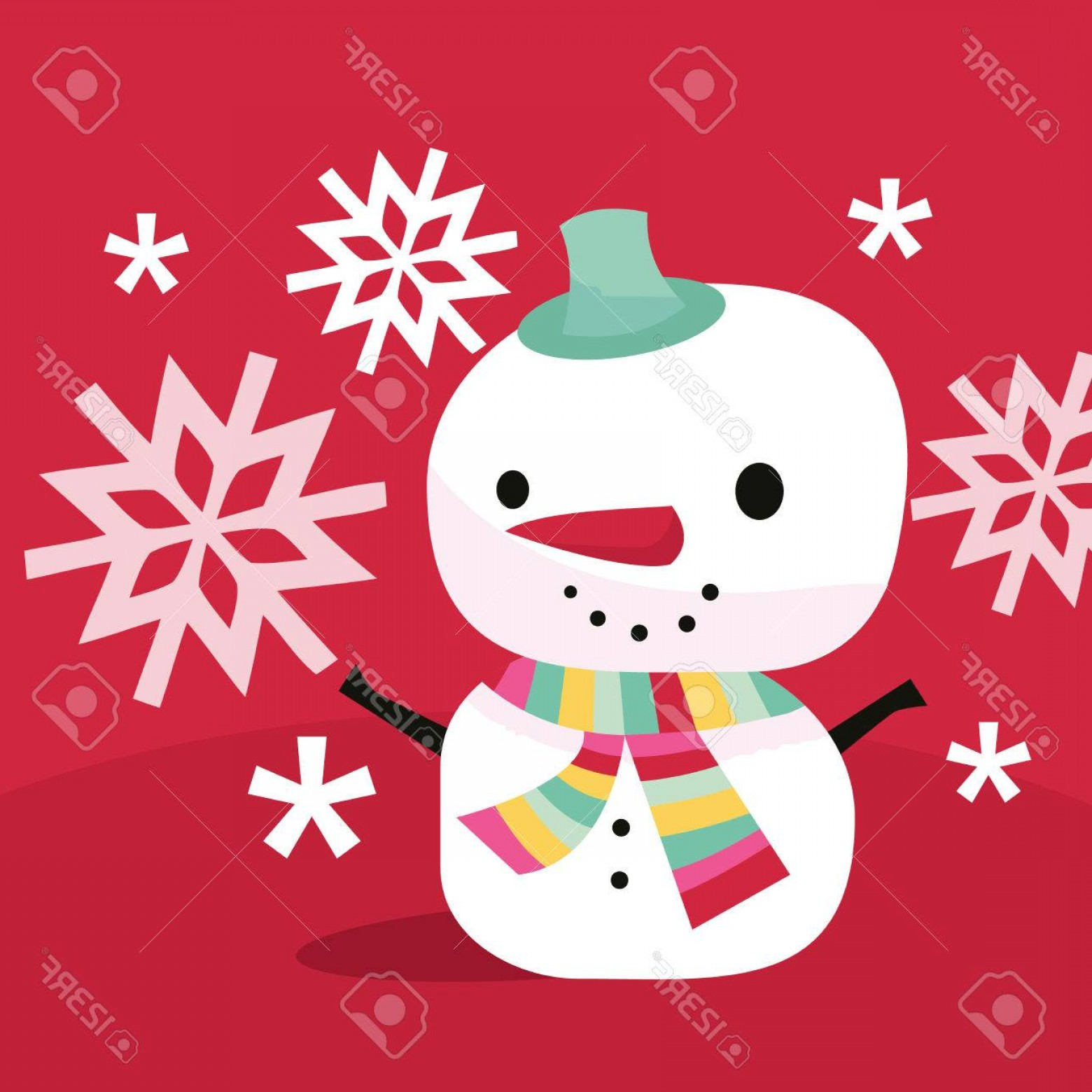 Mittens and snowman hat clipart whimsical vector black and white download Photostock Vector A Vector Illustration Of Modern Whimsical ... vector black and white download