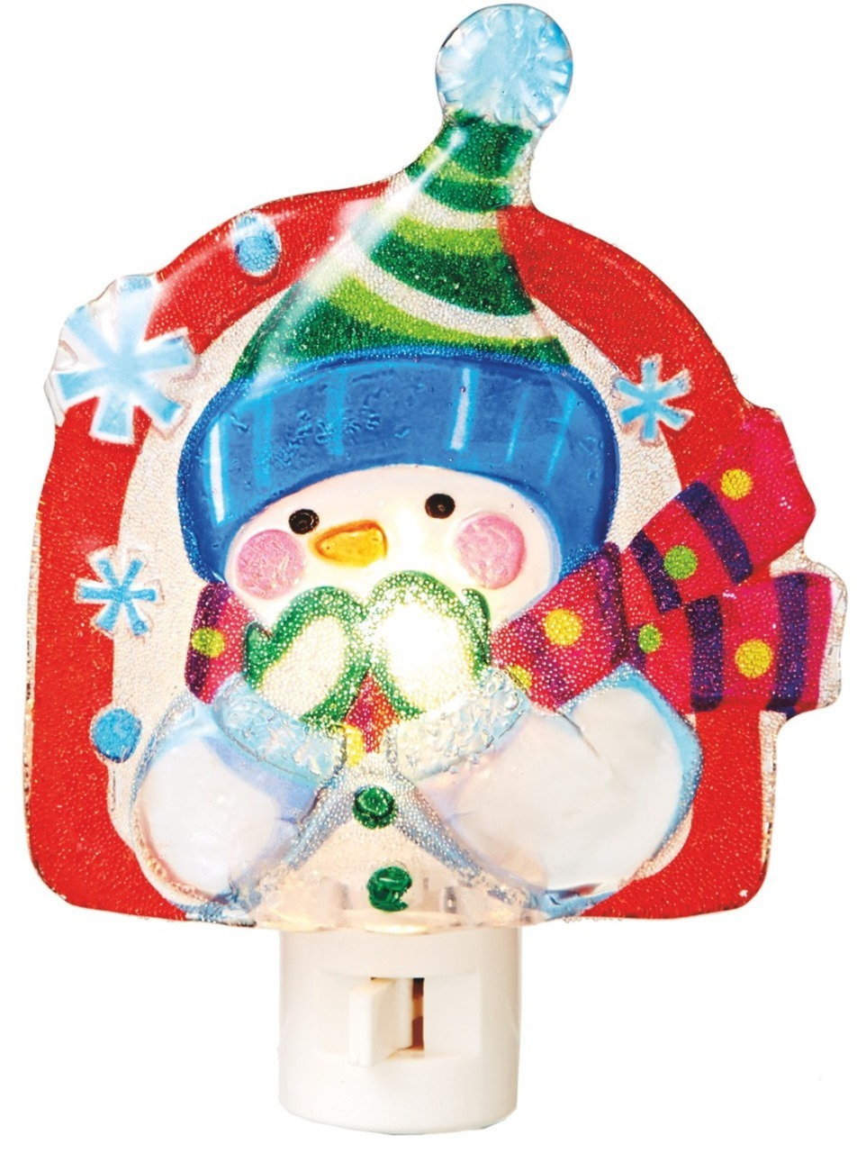 Mittens and snowman hat clipart whimsical black and white library Wintry Fun Whimsical Snowman with Mittens Night Light Midwest CBK black and white library