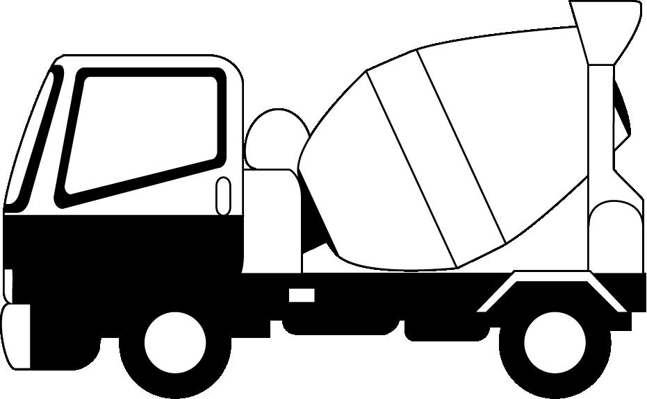 Mixer driver clipart svg black and white download HD Semi Truck Clipart - Concrete Mixer Truck Clip Art ... svg black and white download