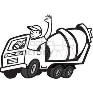Mixer driver clipart clip free download black and white cement mixer driver wave clipart. Royalty-free clipart #  388147 clip free download
