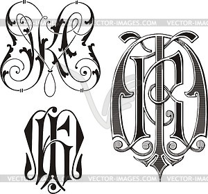 Mk clipart clip art download Monogram MK - vector clipart clip art download