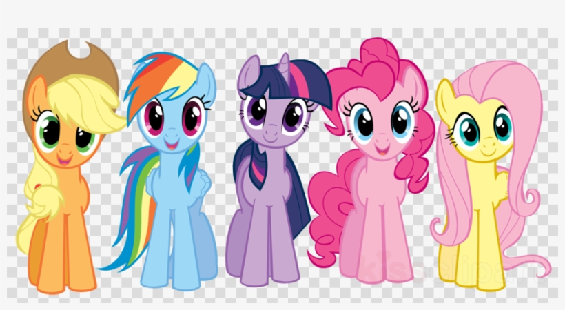 Mlp mane 6 clipart svg freeuse library Download My Little Pony Png Clipart Pony Twilight Sparkle ... svg freeuse library
