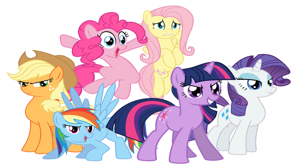 Mlp mane 6 clipart vector black and white stock Play DnD in Equestria with These My Little Pony Character ... vector black and white stock