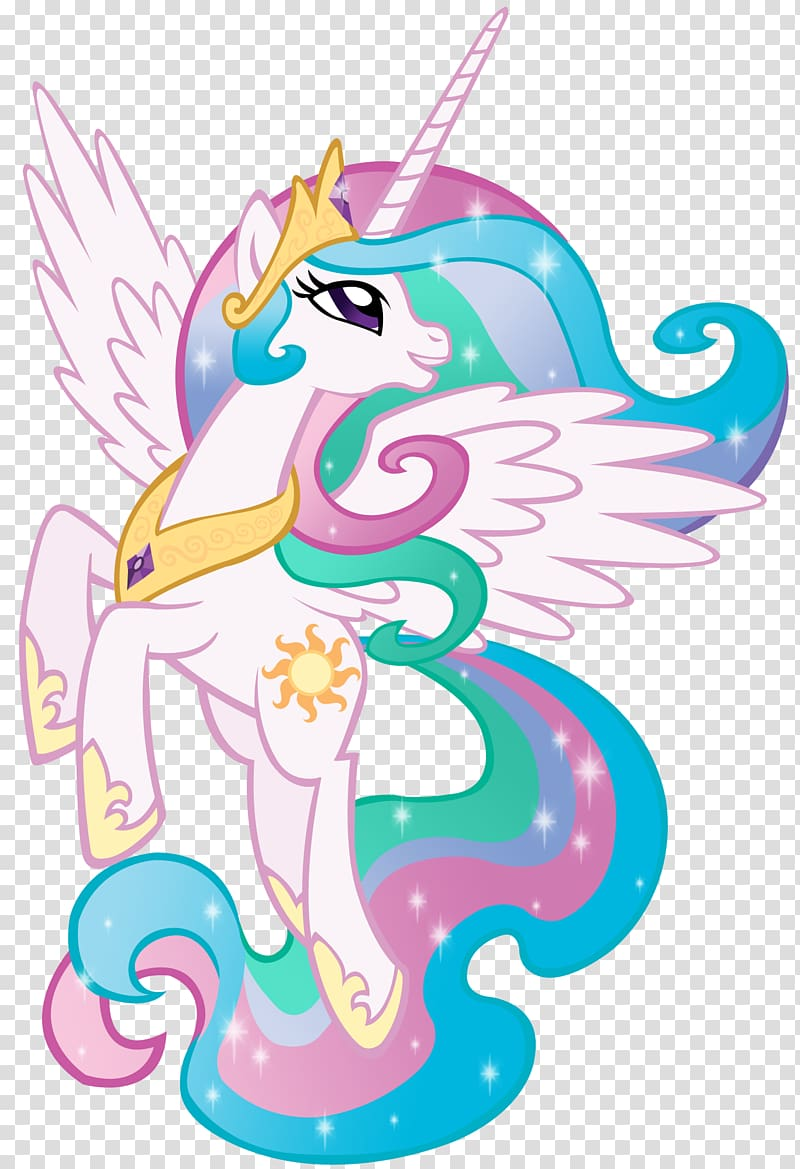 Mlp princess celestia clipart graphic freeuse White My Little Pony character illustration, Princess ... graphic freeuse