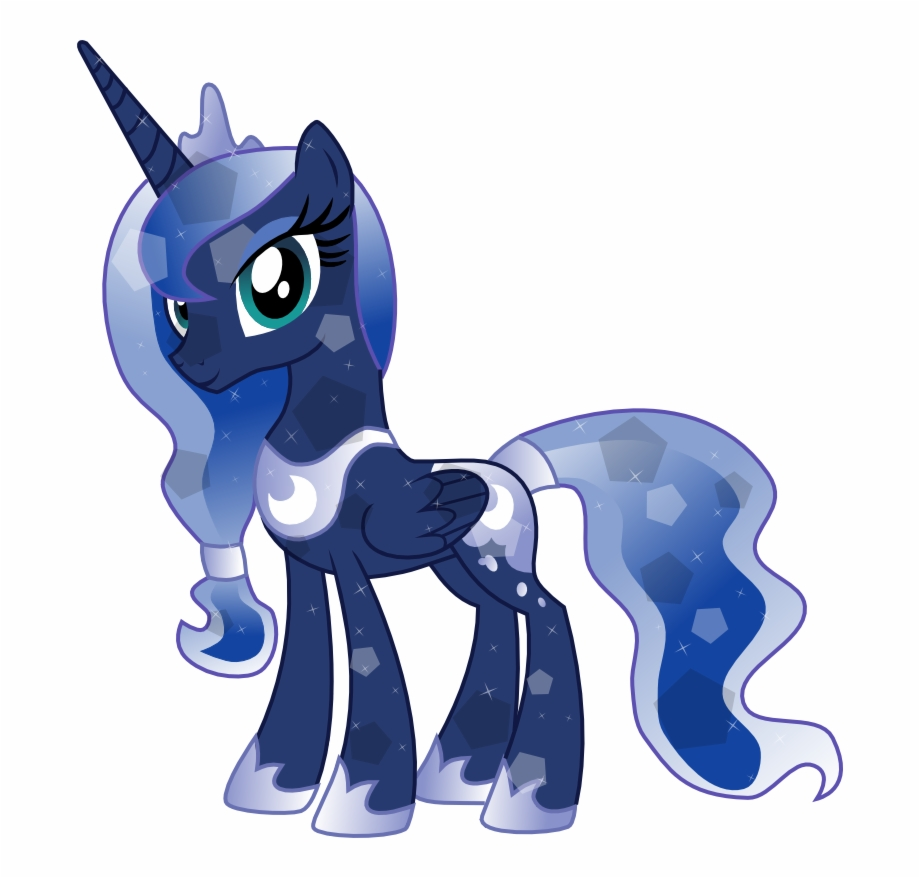 Mlp princess luna clipart png transparent library My Little Pony Crystal Princess Luna - Mlp Young Princess ... png transparent library