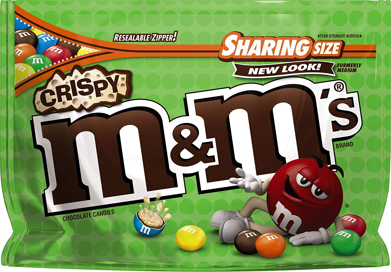 M&m candy clipart free jpg free library M&M\'S Crispy Chocolate Candy Sharing Size 8-Ounce Bag jpg free library