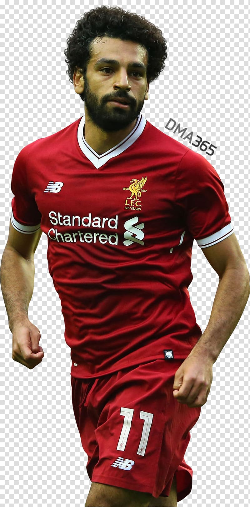 Mo salah clipart svg library stock Man wearing red-and-white soccer uniform, Mohamed Salah ... svg library stock