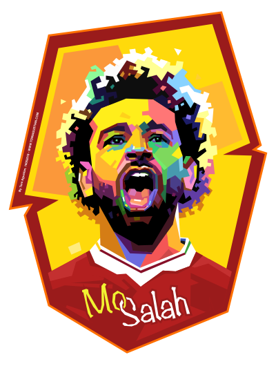 Mo salah clipart clipart royalty free download Mohamed Salah WPAP Emblem clipart royalty free download