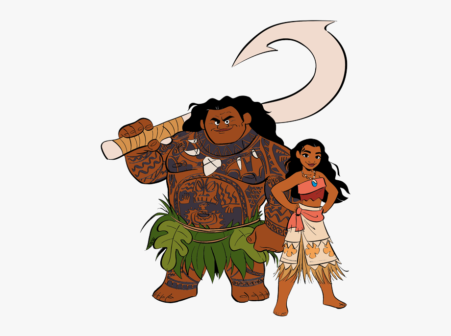 Library Of Moana Character Vector Free Png Files