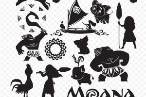 Moanal clipart silhouette image royalty free Moana clipart silhouette 4 » Clipart Portal image royalty free