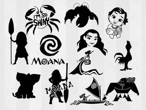Moanal clipart silhouette clipart library Moana SVG Bundle Moana clipart Moana cut files Moana svg ... clipart library