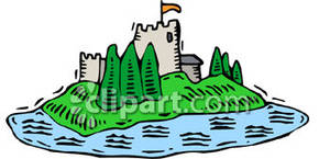 Moat clipart png library library Castle with a Moat - Royalty Free Clipart Picture png library library