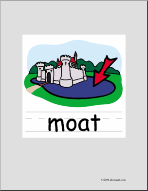 Moat clipart picture free download Clip Art: Basic Words: Moat Color (poster) I abcteach.com ... picture free download