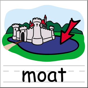Moat clipart png royalty free download Clip Art: Basic Words: Moat Color Labeled I abcteach.com ... png royalty free download