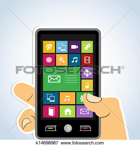 Mobile app clipart picture transparent stock Clip Art of Cloud computing mobile application k14698927 - Search ... picture transparent stock