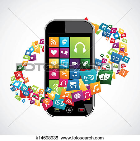 Mobile app clipart png transparent Clip Art of Mobile phone app icon background k9749349 - Search ... png transparent