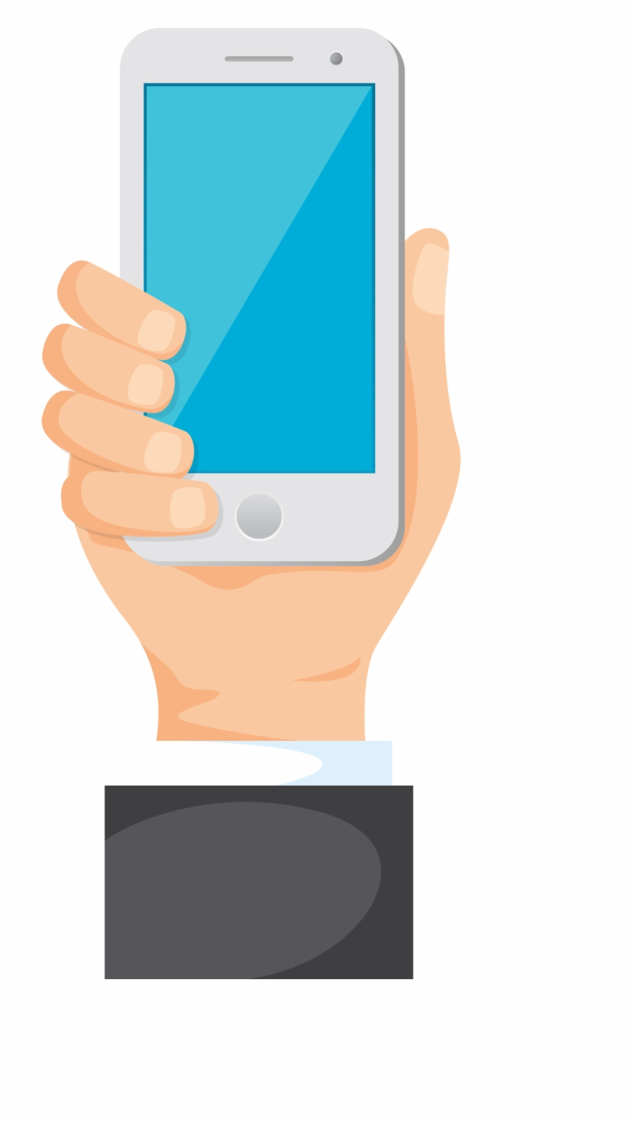 Mobile in hand clipart png free stock Phone In Hand Clipart Free PNG Images & Clipart Download ... png free stock