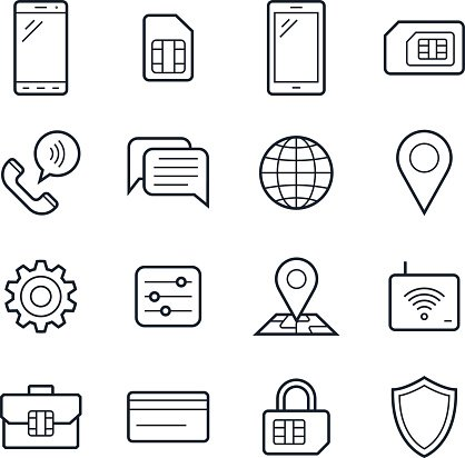 Mobile network icon clipart