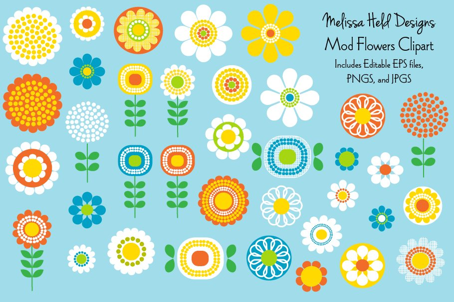 Mod flowers clipart picture black and white download Mod Flowers Clipart picture black and white download