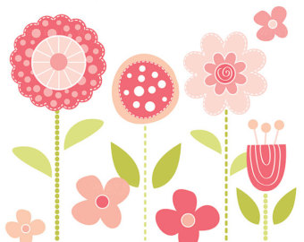 Mod flowers clipart picture free library Mod Flower Clipart - Clip Art Library picture free library