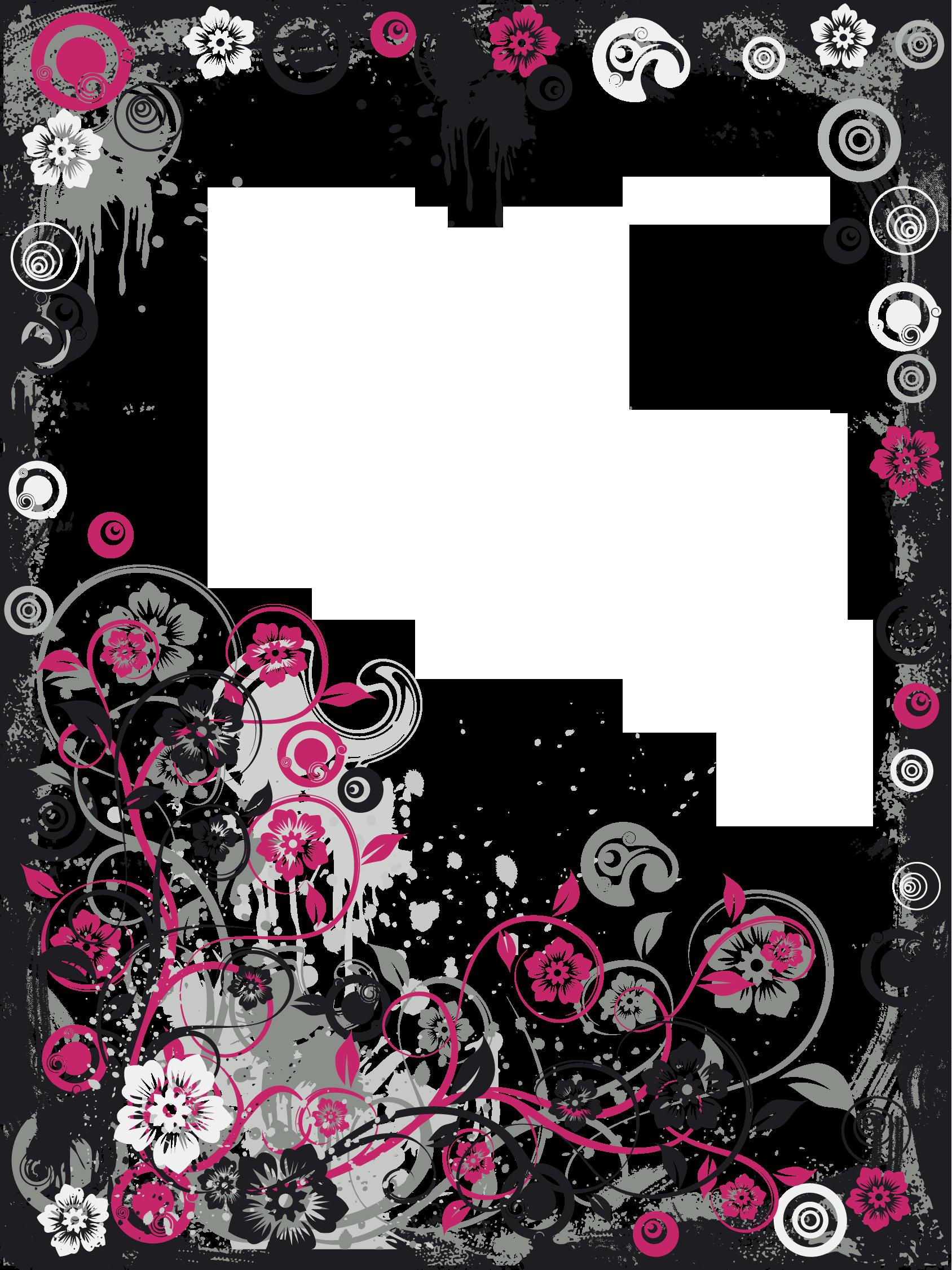 Modern black frame clipart picture transparent library Black and Pink Modern Transparent Frame   Png   Frame ... picture transparent library