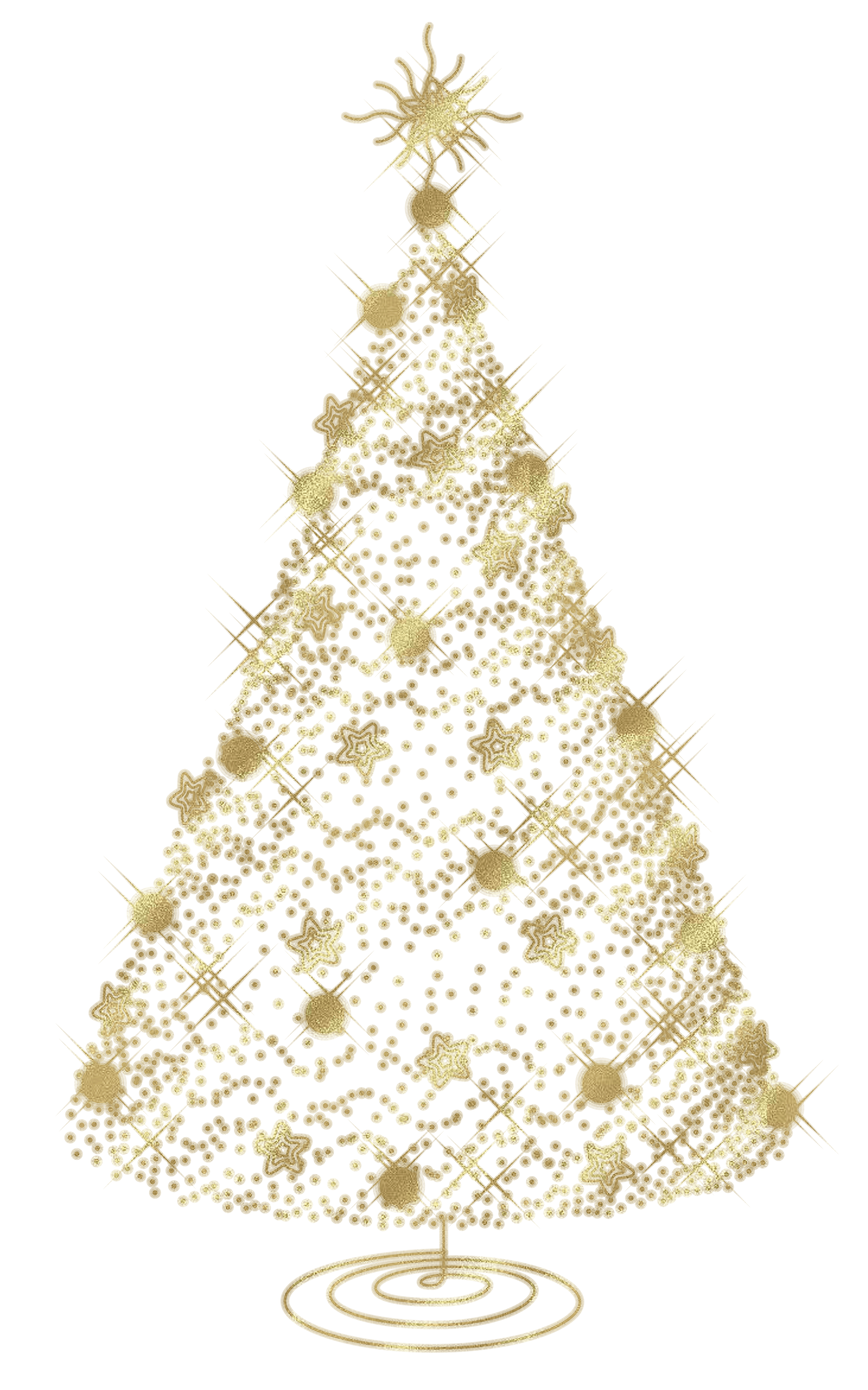 Modern christmas tree clipart clip art transparent stock Modern Transparent Christmas Gold Tree PNG Clipart clip art transparent stock