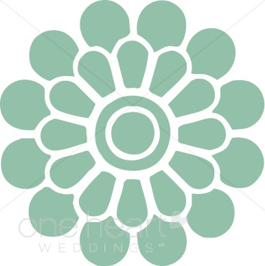 Modern clipart flowers svg free library Teal Modern Flower Clipart | Flower Clipart svg free library