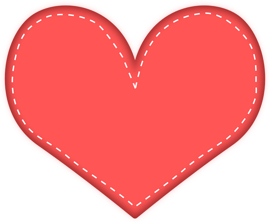 Modern heart clipart clip black and white Free Image on Pixabay - Heart, Red, Love, Hearts, Valentine ... clip black and white