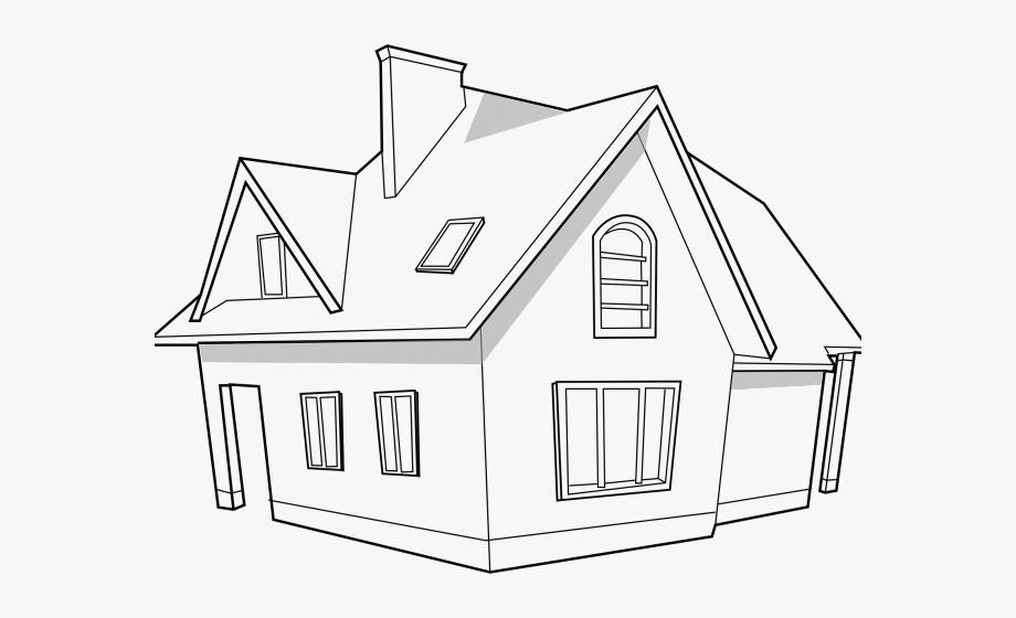 Modern home clipart clipart freeuse stock White House Clipart Modern - Home Png Black And White ... clipart freeuse stock