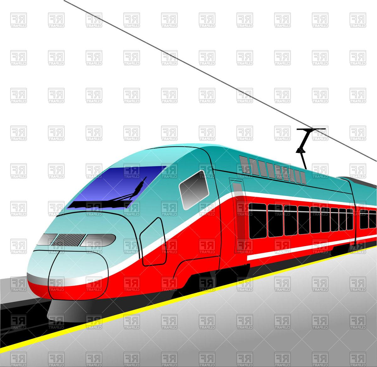 Modern train clipart jpg free stock Best Free Modern Train Clip Art Image » Free Vector Art ... jpg free stock