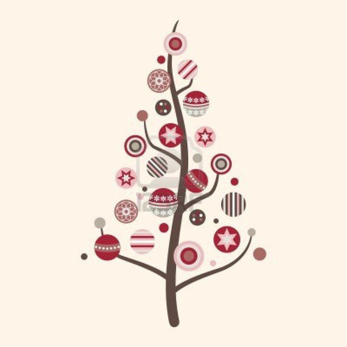 Modern tree clipart vector freeuse stock whimsical outline art | Modern Christmas Tree Clip Art ... vector freeuse stock