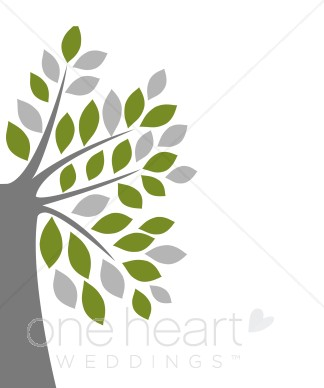 Modern tree clipart banner library library Modern Green Tree Background | Wedding Backgrounds banner library library