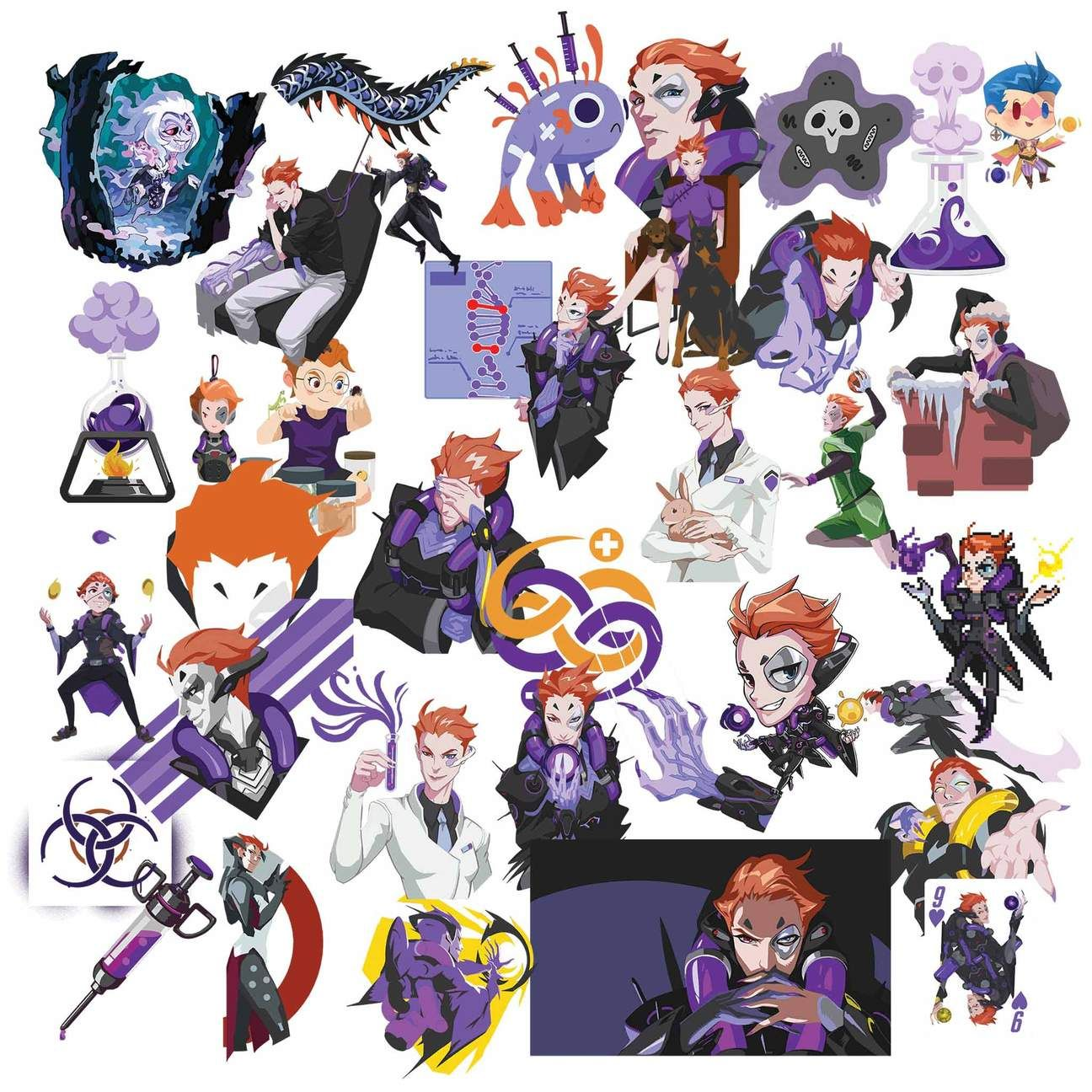 Moira clipart jpg royalty free library Overwatch Moira Clipart in 2019 | Overwatch Clipart ... jpg royalty free library
