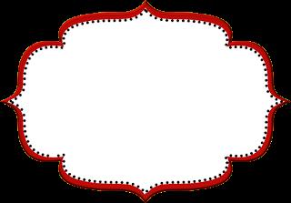 Moldura vermelha clipart clip art library Vermelho Arabesco e Preto - Kit Completo com molduras para ... clip art library