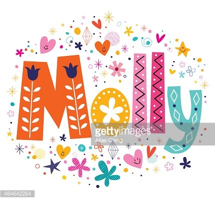 Molly clipart image transparent library Molly Female Name Decorative Lettering Type Design premium ... image transparent library
