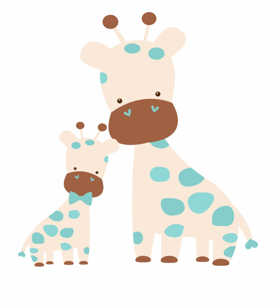 Mom and baby animals clipart png svg download Clipart Giraffe Jungle Animal - Mom And Baby Animal Clipart ... svg download