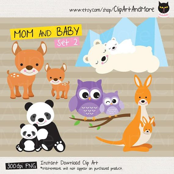 Mom and baby animals clipart png jpg freeuse download Mom and Baby Clipart Mama and Baby Animal Clipart Mother and ... jpg freeuse download