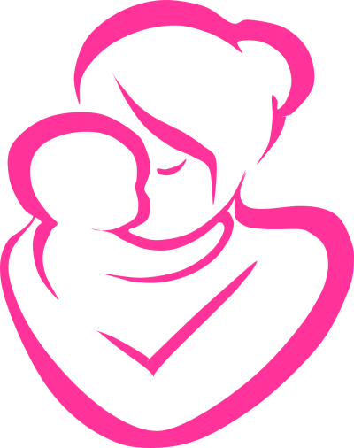 Mom and baby clipart image black and white stock Mom And Baby Clipart PNG - DLPNG.com image black and white stock