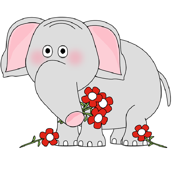 Pin by Soley Svensson on Cute Cartoon Elephants | Pinterest banner black and white