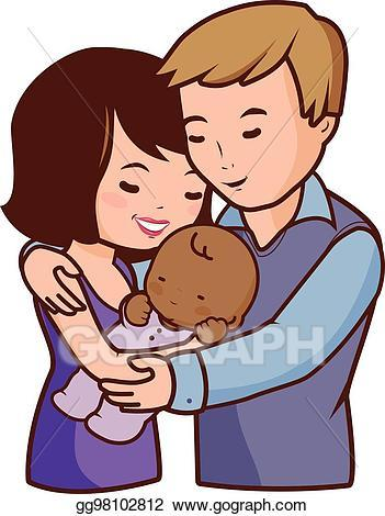 Mom and dad kisses clipart image transparent library Mom dad and baby clipart 2 » Clipart Portal image transparent library