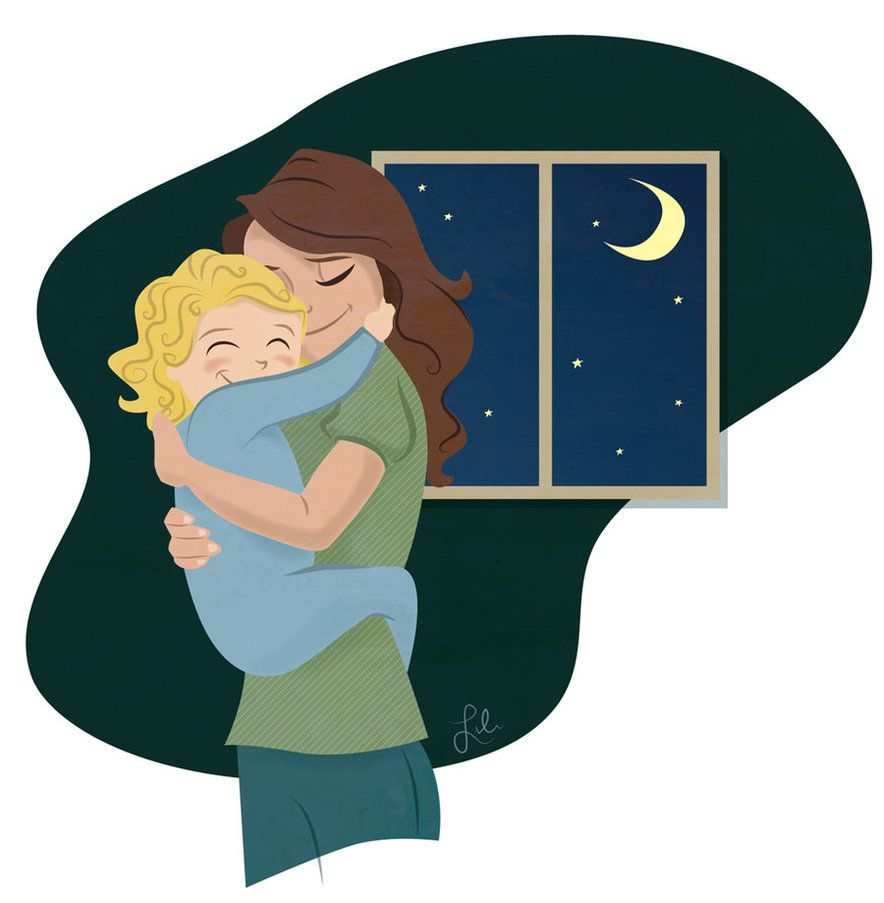 Mom and dad kisses clipart clip art free download Good Night Hug...:)   Illustrations and more... :)   Mother ... clip art free download