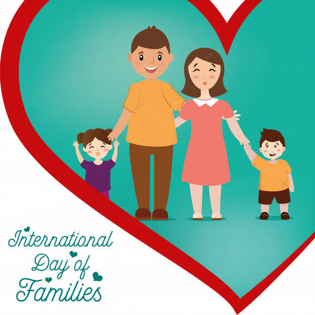 Mom and dads love their children clipart picture freeuse library Illustration of international day of families. happy family ... picture freeuse library