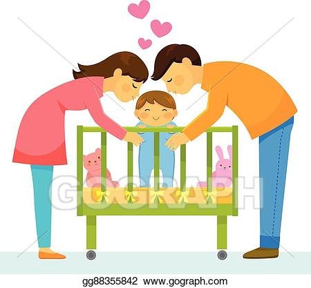 Mom and dads love their children clipart royalty free library Vector Art - Loving parents. Clipart Drawing gg88355842 ... royalty free library